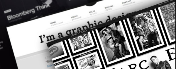 20 attractive and Striking Black and White Websites