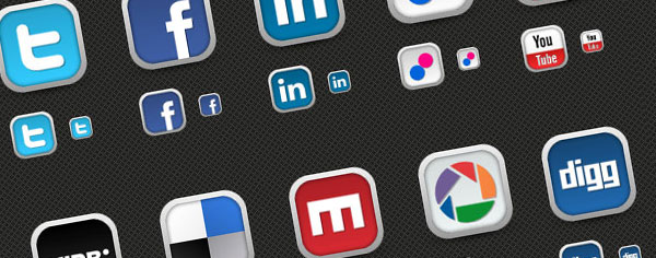 Freebie! 30 Fresh Social Media Icons
