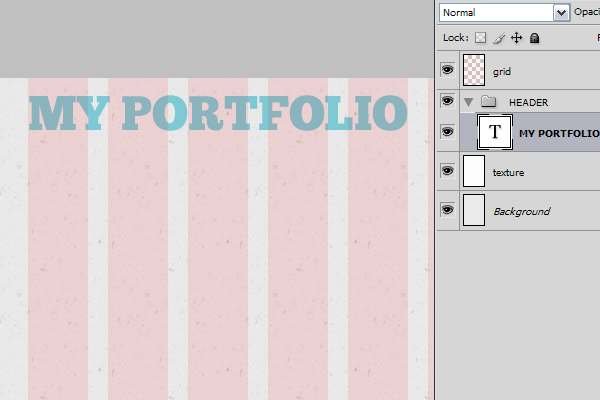 Single Page Portfolio Photoshop Tutorial