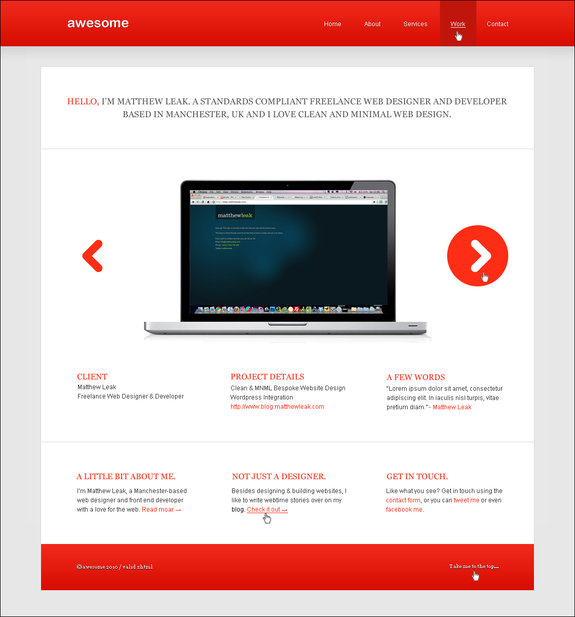 Awesome css designs - The Final Psd
