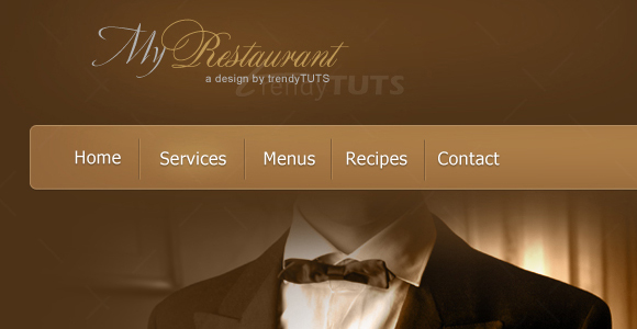 How to create a restaurant psd template in Photoshop
