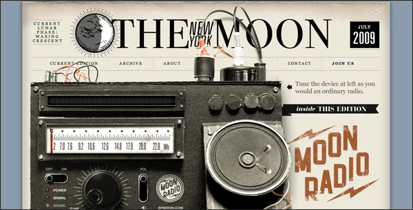 the New York Moon | Vintage / Retro Web Design
