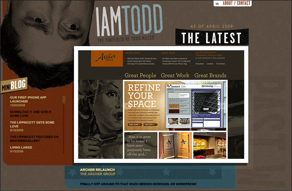 I Am Todd | Vintage / Retro Web Design