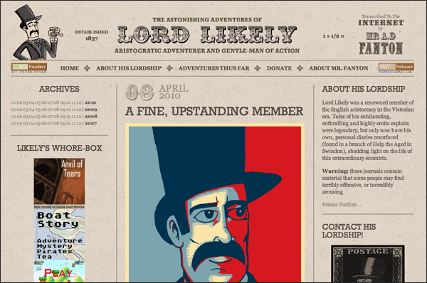 Lord Likeley | Vintage / Retro Web Design
